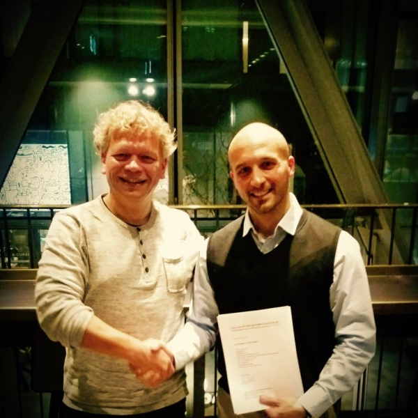"Claudio Di Meo receiving First Prize at the ""International Conducting Competition Westminster London 2018"""